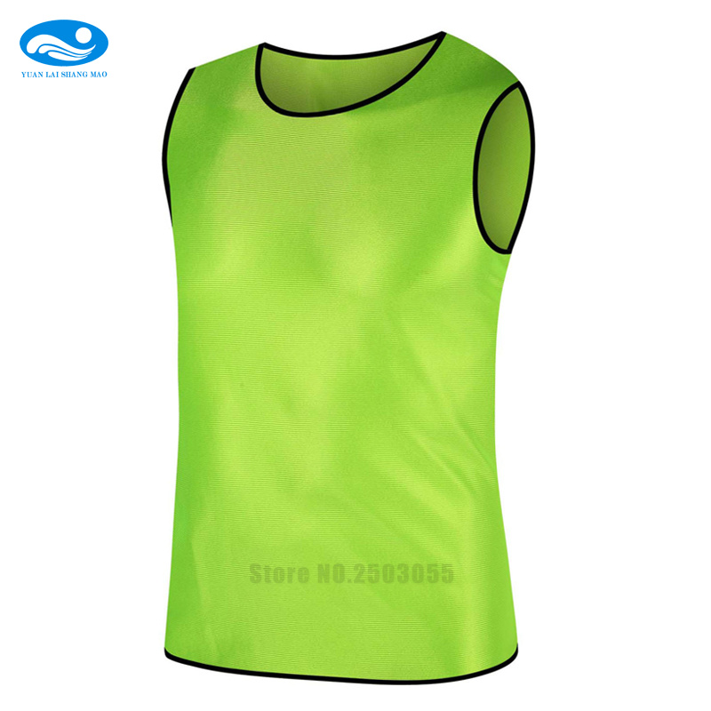 Men/kids sleeveless training vest quick drying breathable adults against vest football team sport vest can print DIY name number(China)