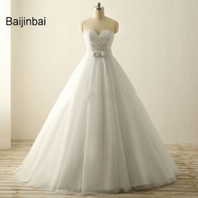 Buy Baijinbai Robe De Mariage Vantage Natural Real White Wedding Dresses Vestido De Noiva A-Line Beading Backless Bridal Dresses for $108.16 in AliExpress store