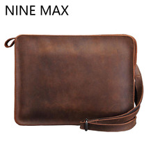 Fashion High Quality Luxury Male Clutch Bag Multiple Function IPad Mini Hand Bags Durable Vintage Men Wallet to Best Gift Purse