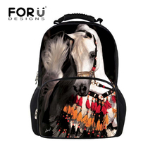 FORUDESIGNS 3D Horse Backpack Stylish Animal Zoo School Bags,Men Women Travel Backpacks Larger Capacity Daily Daypack Wholesale(China)