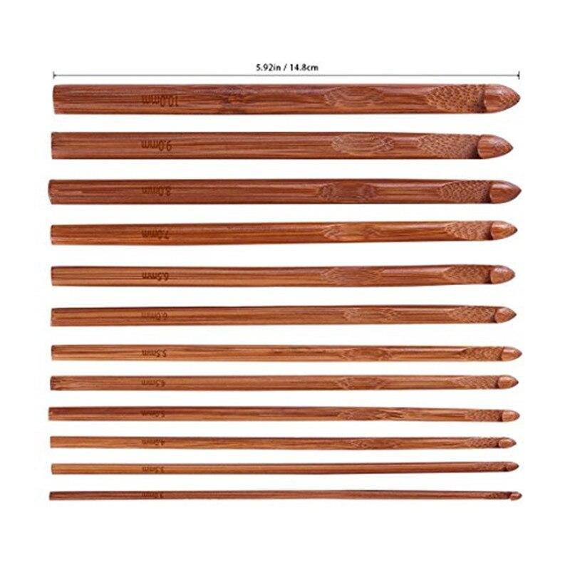 bamboo crochet needles set (22)