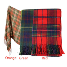 Hot Marketing New Women Winter Infinity Blanket Oversized Shawl Plaid Check Tartan Scarf Wrap May4 Drop Shipping