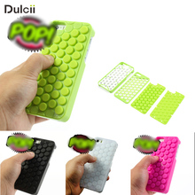 Dulcii Squishy Case Cover For iPhone 5 5s SE Reduce Stress Novelty PoPp Sound Bubble Wrap Coque Fundas Capa Interesting Gadget