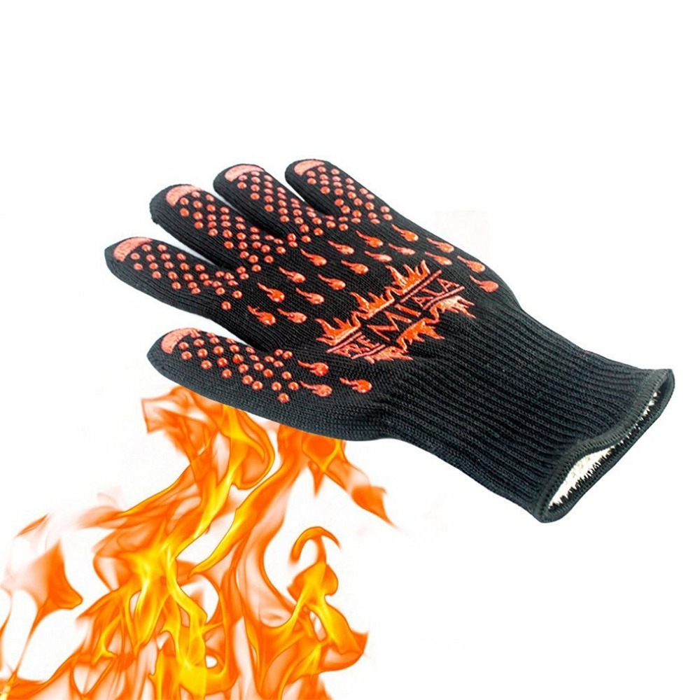 Heat Resistant Gloves,BBQ Grilling Cooking Gloves,932F Extreme Heat Resistant Oven Mitts Gloves,  Versatile for Kitchen <br><br>Aliexpress