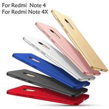 Phone Case for Xiaomi Redmi Note 4 Global Version Luxury Matte Hard Plastic Full Body Protection Shell for Xiaomi Redmi Note 4X
