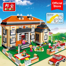BanBao 8369 City Rhine Villa House 3 in 1 Blocks Educational Building Bricks Model Toys Kids Children Gift Compatible With Legoe(China)