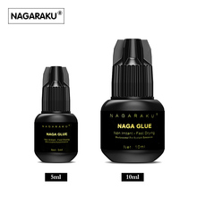 NAGARAKU 10 ml or 5 ml new arrival Eyelash Extension Glue 1 glue ring for free high quality Fast Drying  Long Lasting Time(China)