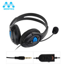MEMTEQ Wired Gaming Headset Earphones Headphones With Microphone Mic Stereo Supper Bass for Gaming PS4 PC Laptop Gamer Mobile(China)