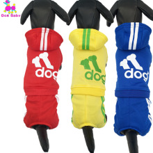 DOGBABY Warm Dogs Hoodies Puppy Winter Dog Coat 100% Cotton Letter Print Pets Sportswear 8 Colors Four Legs Small Dog Clothes(China)