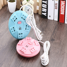 Creative UFO socket Extended Power Cube Socket 5 Outlets+ 2USB Ports Adapter with 1.5 m Cable Extension Adapter Multi Switched S
