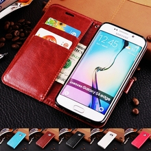 Luxury Vintage Flip Leather Mobile Phone Case Wallet Cover Cases For Samsung Galaxy S3 S4 S5 S6 S7 edge A3 A5 A7 2016 2017 J5 J7