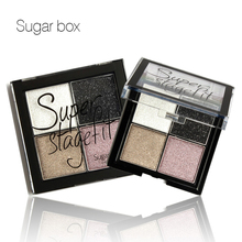Sugar Box 4 Color Eye shadow Pigments Palette Eye Makeup Eye Shadow Super Stage Fit Palette Cosmetic Makeup Set Nude Eye Shadow(China)