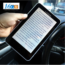 Ebook reader 7inch Touch Screen digital E-book+recording +Video+MP3 music Wifi player with 16GB Card