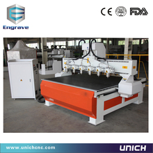 SIX HEAD factory supply can custom made 3 axis vacuum table cnc router machine for wood