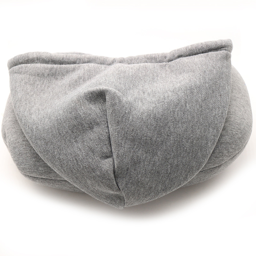 U-shaped Travel Neck Pillow with Hood