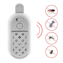 2017 New Arrival USB Portable Ultrasonic Electronic Mosquito Repeller 5V 2A Indoor Mosquito Rodent Rat Mice Bug Insect Repellent(China)
