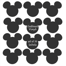 18 pcs Mickey Mouse Chalkboard Vinyl Labels signs,removable blackboard stickers Size 6cm, Free Shipping