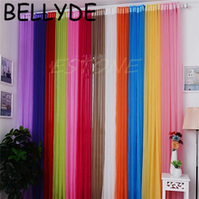 BELLYDE 10 Colors String Curtains Door Window Panel Curtain Divider Yarn String Curtain Strip Tassel Drape Decor for Living Room