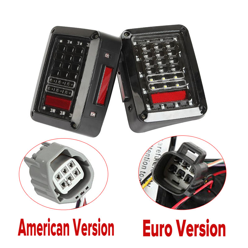 For Jeep Wrangler JK 07-15 Led Taillight Brake Light Reverse Light Signal Light Assembly Integrated Smoke SAE &amp; D.O.T approved <br><br>Aliexpress