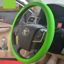 4 Colors Fashional Soft Silicone Steering Wheel Cover Shell Skidproof Odorless Eco-Friendly Protector For 36-38cm Steering Wheel(China)