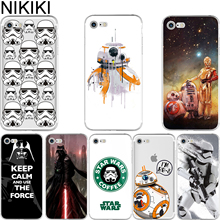 NIKIKI Star Wars R2D2 BB8 Coffee Stormtrooper Darth Vader Soft Silicon Phone Cases Cover for IPhone 6 6S 7 8 Plus 5S SE X Coque(China)