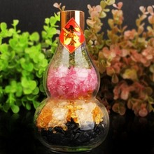 A natural crystal stone five colorful eggs for lucky gourd degaussing purification radiation of Taisui