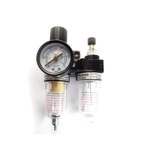 "AFC2000 G1/4"" Air Filter Regulator Combination Lubricator ,FRL Two Union Treatment oil water separation"