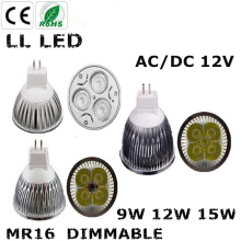 Super Bright 15W 12W 9W GU10 LED Bulb Spot Light Lamp 12V 110V 220V Dimmable GU5.3  MR16 Recessed Lighting
