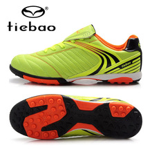 TIEBAO Top Quality Professional Children Kids Outdoor Sport Soccer Boots Men Training Sneakers Turf Soles Football Shoes(China)
