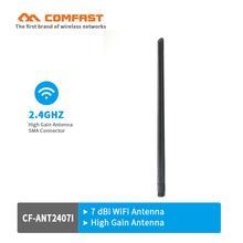 Comfast WIFI Antennas CF-ANT2407I 2.4GHz 7dBi RP-SMA Copper Wireless Omni direction Router Card high gain Indoor wi fi Antenna