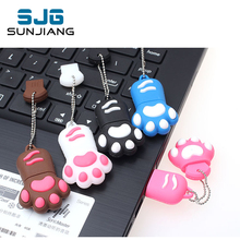 Cartoon Bear Claw Shape USB Flash Drive pen drive 4gb 8gb 16gb 32gb 64gb USB 2.0 Flash Memory stick bear's footprints Pendrives(China)
