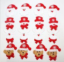 5pcs/pack Xmas Tree Decoration Pendant Cloth Art Hanging Xmas Snowman Santa Clause Elk Fabric Cloth Toy Christmas Party Supplies
