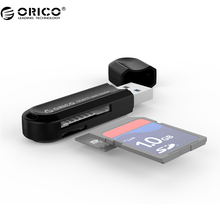 ORICO CRS21 Card Reader Mini USB3.0 Dual Card Reader support SD/TF with Multifunctional Design-Black/White