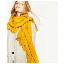 200x100cm Hot Fashion Solid Color Winter Scarf Women Oversize Blankets Luxury brand Pashmina Shawl Echarpe Cape Wrap YG491(China)