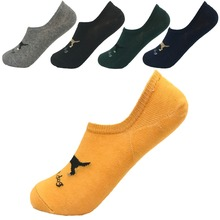 2017 youth personality Pure Color dog invisible socks men cotton high quality elastic casual Spring and summer(size UK6-8)
