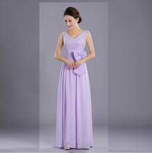 greek chiffon bridesmaid ladies summer women light purple lace top dress formal long dresses lavender for wedding guest D1919