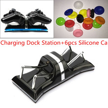 Dual Charging Back Stand Docking Station with LED light Indicator For Sony PlayStation PS3 / PS3 Slim Controller+Silicone Caps