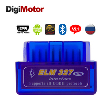 Mini V 2.1 ELM327 OBD2 Bluetooth Adapter ELM 327 V2.1 OBD 2 OBDII Scanner Diagnostic Scan Tool Car Code Reader OBD-II ELM-327