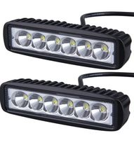 1 Pair 6 inch Mini 18W LED Light Bar Motorcycle LED Bar Offroad 4x4 ATV Daytime Running Lights Truck Tractor Warning Work Light