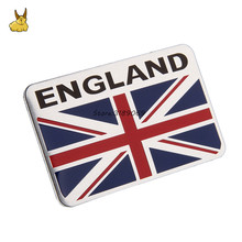8x5cm Aluminium Alloy British UK flag Emblem Car Sticker Auto Badge Decal For ford opel vw bmw audi nissan Mercedes Benz Renault(China)