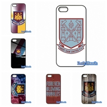 Coque West Ham United FC logo Phone Cases Cover For Apple iPhone 4 4S 5 5S 5C SE 6 6S 7 Plus 4.7 5.5 iPod Touch 4 5 6