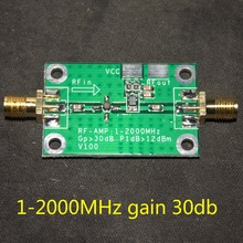 NEW 1-2000MHz 2Ghz Low Noise LNA RF Broadband Amplifier Module 30dB HF VHF/UHF