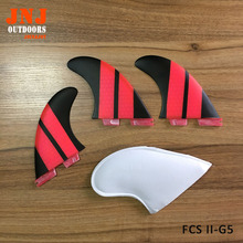China best quality fiberglass honeycomb standard surfboard fins FCS II G5 M fins 3pcs a set surf table thruster fcs2(China)