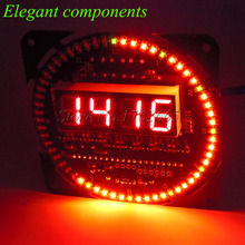 HOT DS1302 Rotating LED Display Alarm Electronic Digital Clock Module LED Temperature Display DIY Kit 51 SCM Learning Board 5V