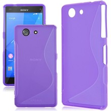 Z1 Z3 Z5 Case S Line TPU Rubber Cover Case For Sony Xperia Z1 Compact Z3 Compact Z5 Compact Case Soft Silicon Gel Cover
