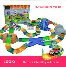 Diecast DIY Children's large toy Roller Coaster track Electronics Toy Car Parking lot Assemble Railway Rail Car Toy for Children(China)