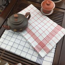 HAKOONA Classical Red Blue  Plaid Table Napkins 40*60cm Cotton Tea Towels  Brand Design Tea Towels  Table Mats Kitchen  Pads