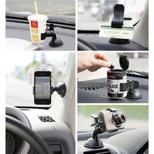 Car Holder Windshield Mount Bracket For Cell Phone iPhone Samsung GPS WF Carrier duckbill single clip storage holder(China)