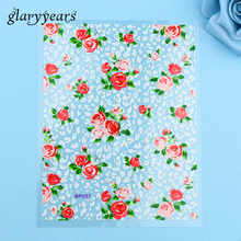 1pc Popular Colorful DIY Nail Art Nail Sticker Rose Flower Leopard Print Design BP057 Nail Sticker Japan and South Korea Styling(China)