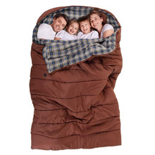 Hangout Family Sleeping Bag Double 2 3 4 Person Outdoor Camping Sleeping Bag Cotton Liner Hiking Large Family's Sleep Bags